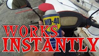 WD 40 WILL INSTANTLY CLEAN PLEXIGLASS YES IT WILL