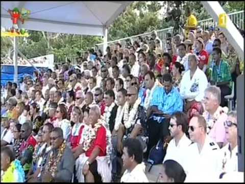 "Ouverture des 9 émes Mini Jeux du Pacifique sud     -""  Tahiti  - Tonga - Tuvalu """