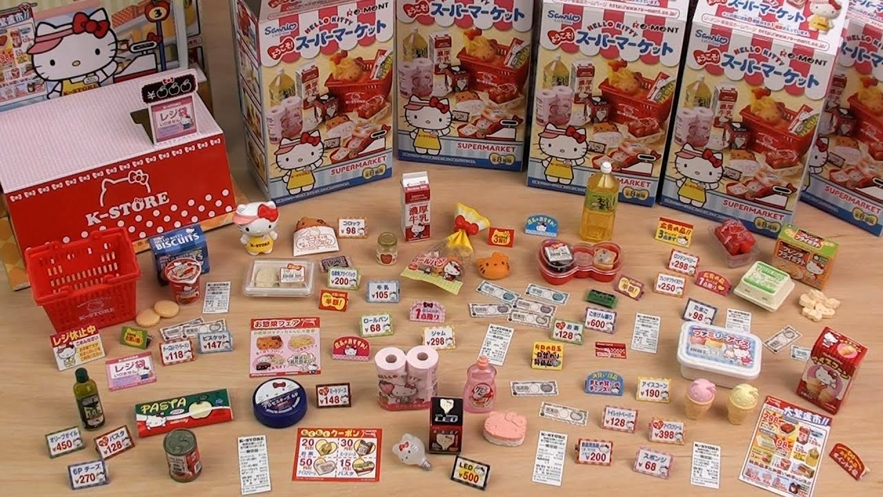Re-Ment Hello Kitty Supermarket Full Set キティちゃんの ...