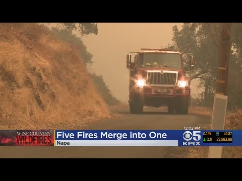 Multiple Napa County Wildfires Merging Into Nuns Fire