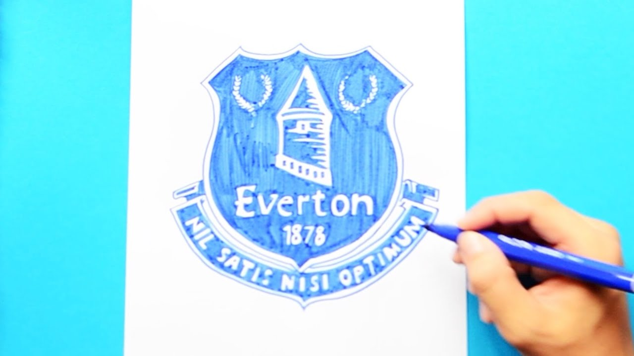 How To Draw Everton F C Logo Premier League Youtube