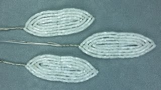Амазонская лилия из бисера. Урок 3 - Узкие лепестки / Beaded amazon lily. Lesson 3 - Narrow petals