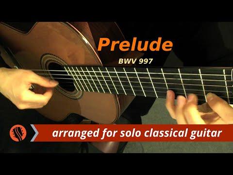"J.S. Bach - ""Prelude,"" from Partita for Lute in C Minor, BWV 997 (Guitar Transcription)"