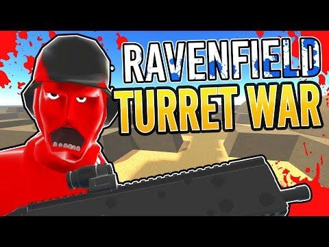 RAVENFIELD VS TURRET WAR | Crazy Custom Unity Asset Hacking Edition + Online Versus