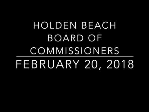 Holden Beach Board of Commissioners - February 20, 2018