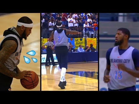 Carmelo Anthony and Paul George Go Off In First Thunder Game Debut - Highlights (Ankles)