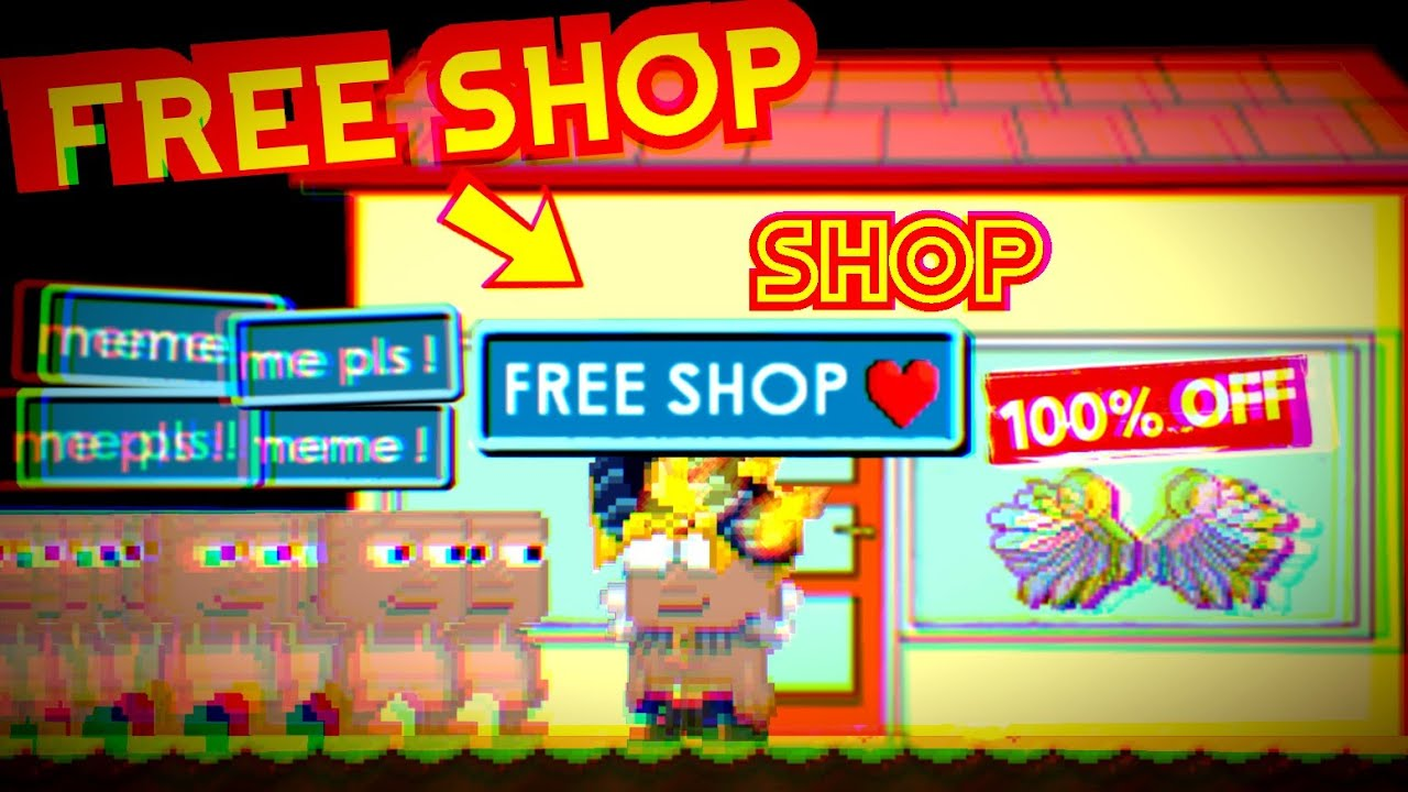 I OPENED FREE SHOP In Growtopia !!! ( 15K SUBSCRIBER SPECIAL )
