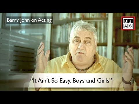 Barry John On Acting