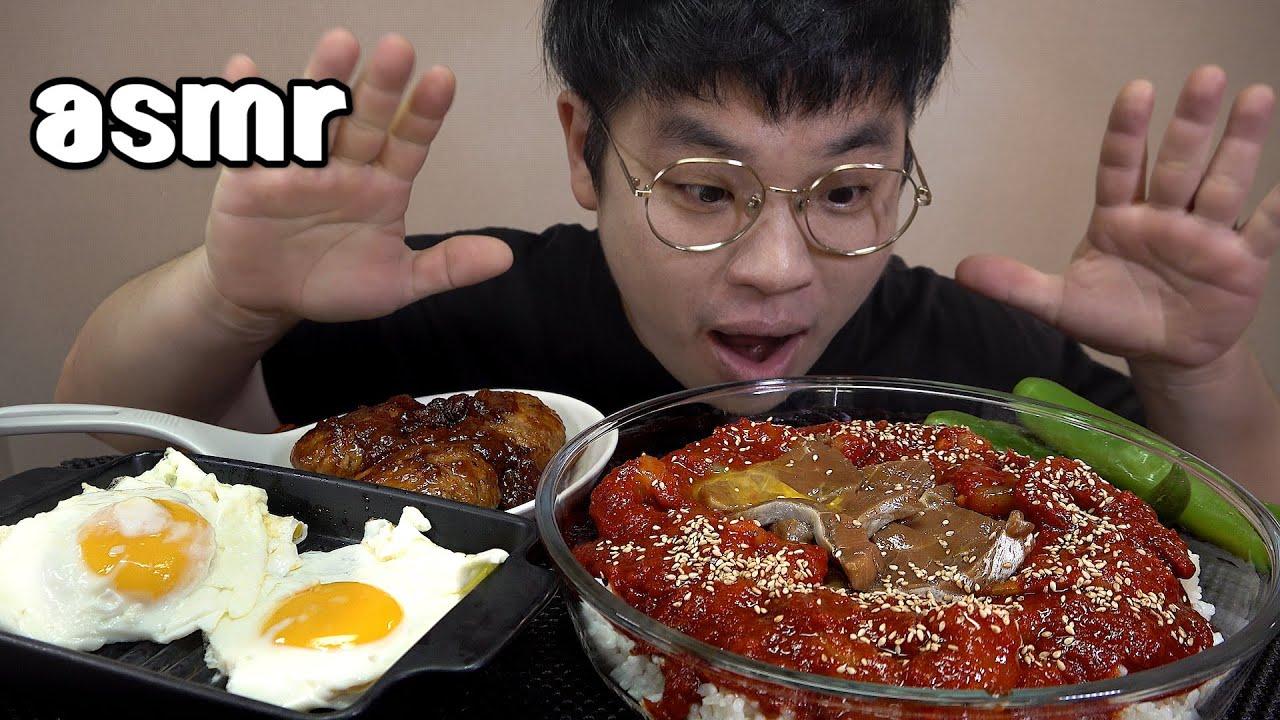 먹방창배tv 매콤새우장 달근 연어장 계란올리고 김올리고 맛있게 spicy Seasoned mature shrimp mukbang Legend koreanfood asmr