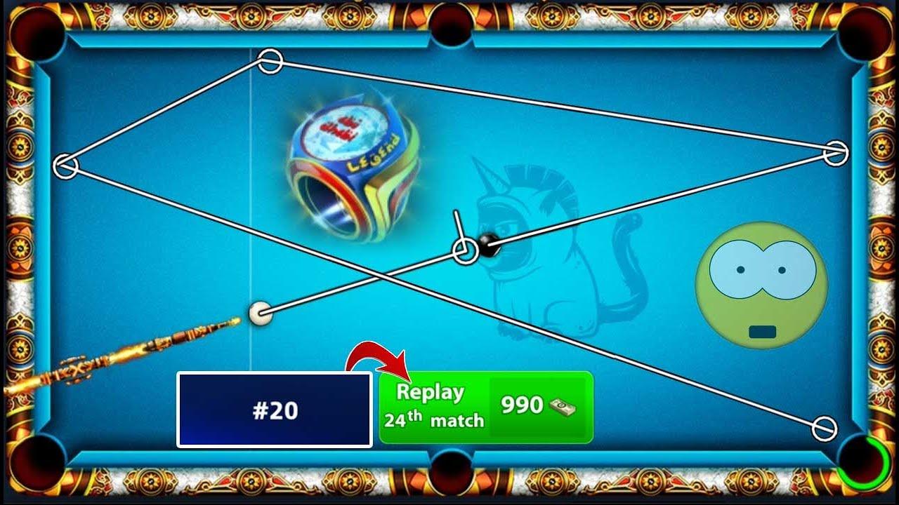 8 ball pool Abu Dhabi Championship 😃 Rank 20 Replay 990 Cash