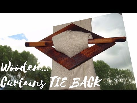 Wooden Curtains Tie Back - DIY