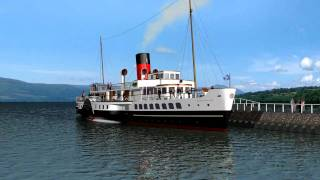 Computer Animation - Paddle Steamer Maid of the Loch HD with RPC People