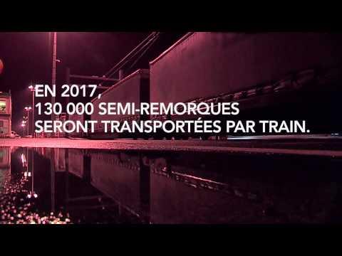 Des camions prennent le train – SNCF achemine des semi-remorques !