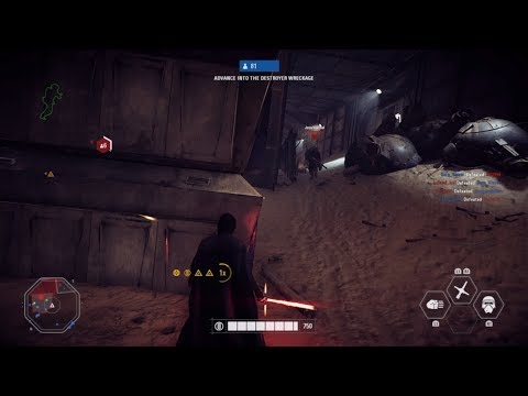STAR WARS Battlefront 2 Galactic Assault gameplay (No commentary)