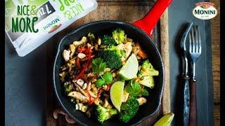 Stir fry z kurczakiem i  Rice&MORE 90sek. 7 ziaren