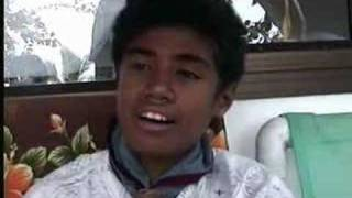 Tommy in Cook islands sings uncle's song