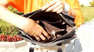 Обзор сумки кожаной со вставками кожи под крокодила