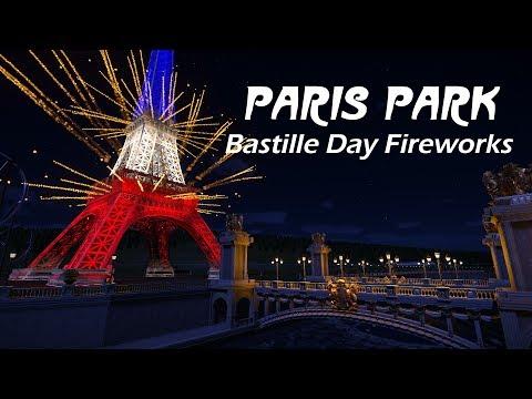Planet Coaster - Paris Park / Bastille Day Fireworks!!! Vive la Liberté
