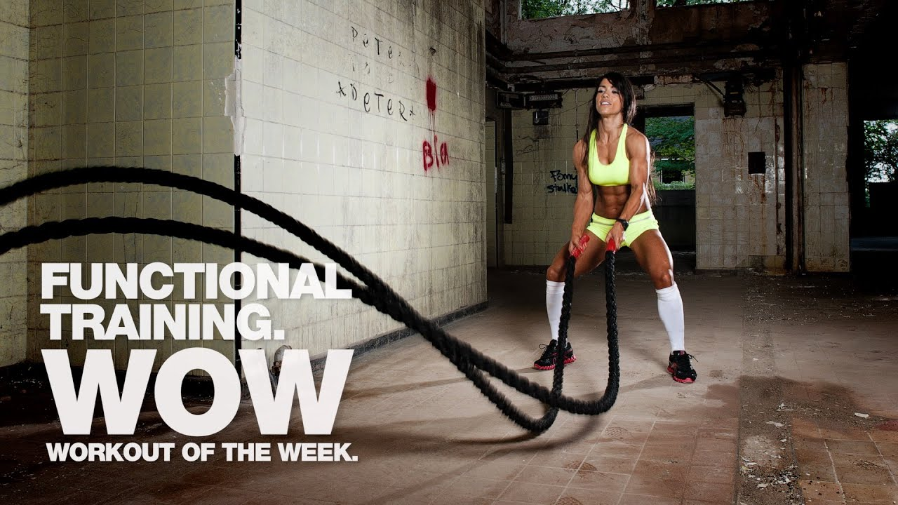 Functional Training 3 Minute Battle Rope Challenge
