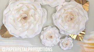 Diy Large Paper Flower Rose Tutorial No Audio