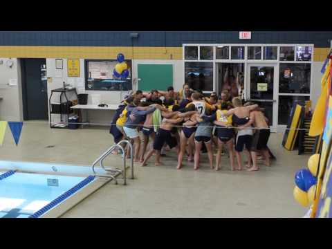Allegheny College Swimming & Diving team cheer