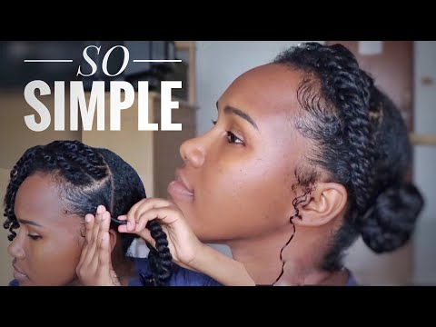 TRANSFORM A SIMPLE NATURAL HAIRSTYLE  MULTIPLE WAYS| DETAILED PROTECTIVE STYLING
