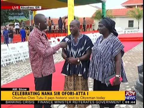 Celebrating Nana Sir Ofori-Atta I - AM Show on JoyNews (23-8-18)