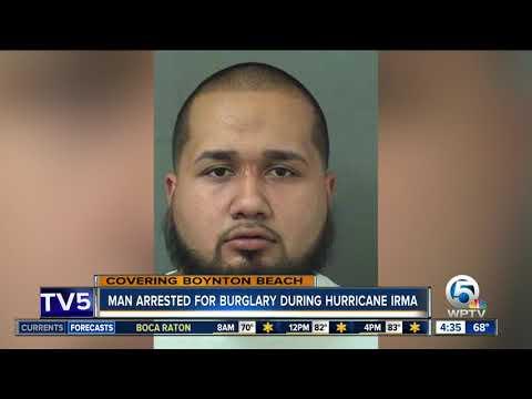 Boynton Beach man charged with burglary during Hurricane Irma