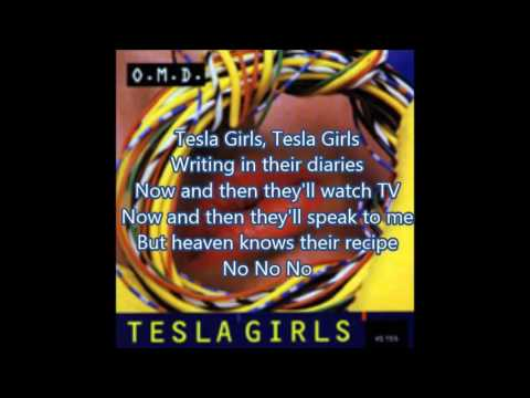 OMD (Orchestral Manouevres in the Dark) - Tesla Girls (lyrics)
