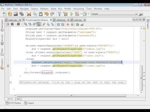 Java Web Programming / JSP. part 04 - Redirect Response