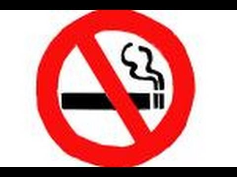 How To Draw A No Smoking Sign Youtube