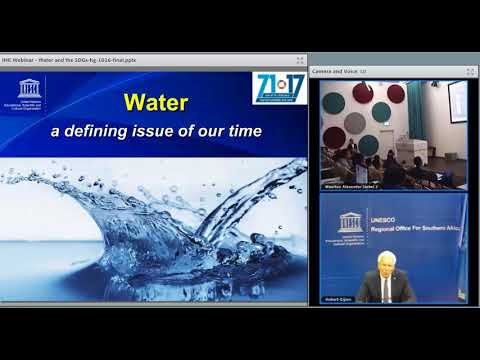 IHE Delft 💧 Alumni Online Seminar: Water and the SDGs: Water for Healthy People & Environment
