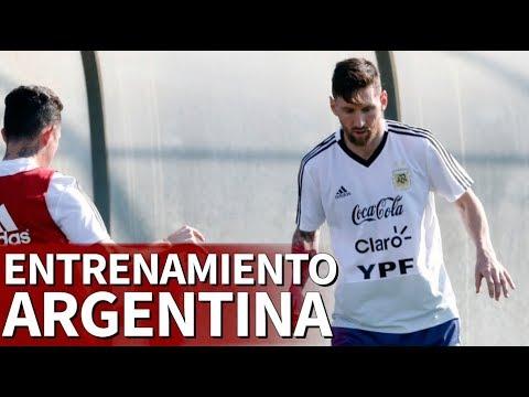 Entrenamiento de Messi y Argentina en Barcelona | Diario AS