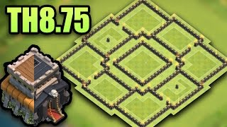 TH8.75 (Town Hall 8.5) Best Farming Base 2017 | (TH9 No xbow) | Clash Of Clans