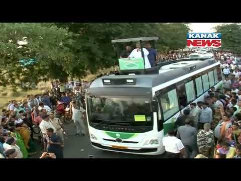 CM Naveen Patnaik Hi-tech Roadshow In Sambalpur