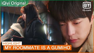 The drunken Seon Woo hugs Dam in front of Woo Yeo   My Roommate is a Gumiho EP10   iQiyi K-Drama
