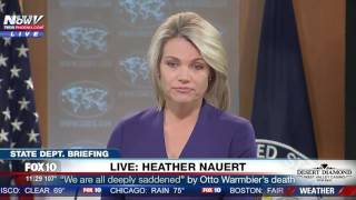 FNN: Feisty Moment Between Reporter & State Department's Heather Nauert Over Otto Warmbier's Health