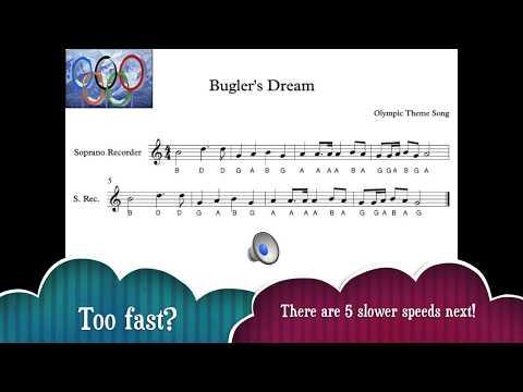 Recorder: (GABD) Olympic Fanfare, Bugler's Dream, for recorder