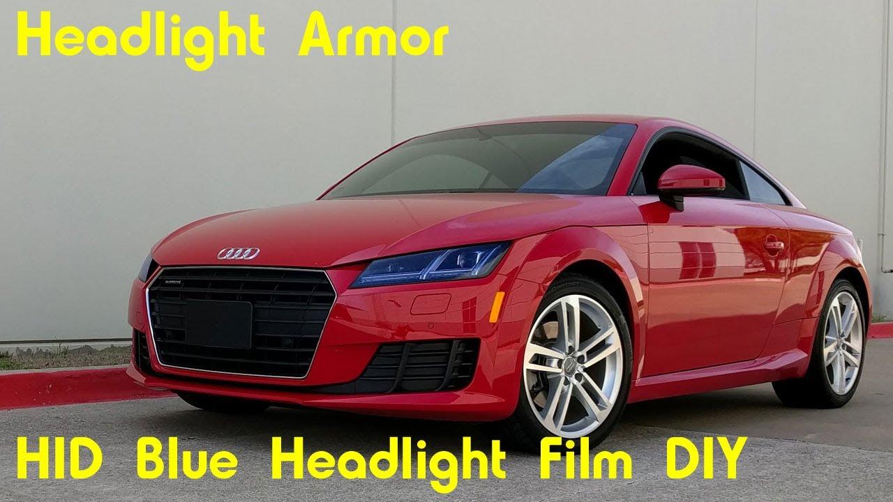 Hid Blue Headlight Protection Tint Film Diy Audi Tt Headlight Armor