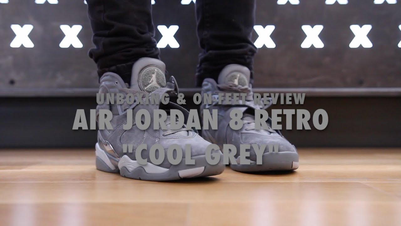 jordan 8 cool grey. air jordan 8 retro \ cool grey