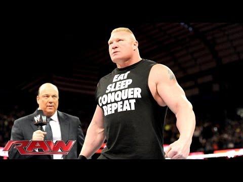 Paul Heyman says Brock Lesnar will end The...