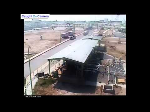 CCTV shows natural gas plant explosion in Mexico