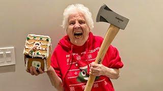 Grandma's LIT Christmas Trick Shots | Ross Smith
