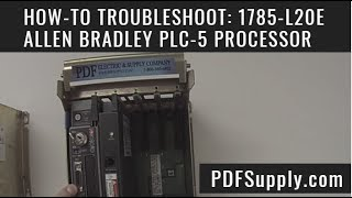 1785 l20e allen bradley plc 5 processor ethernet cpu how to troubleshoot with software training