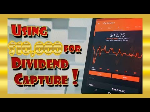 Using $10,000 for DIVIDEND CAPTURE Swing Trading! | Robinhood Investing!