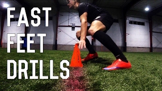 Fast Feet, Agility and Dribbling Drills For Footballers/Soccer Players