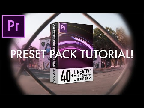 How to use my Adobe Premiere Pro CC PRESET PACK - 40+ Video Effects & Transitions by Justin Odisho
