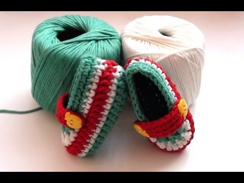 How to Crochet Toffee Apple Baby Booties - Crochet Baby Booties