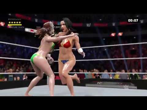 WWE 2K17 Wonder Woman vs. Rogue - Ironman Match
