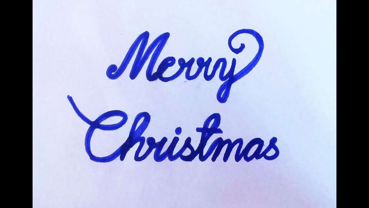 Merry Christmas In Cursive.How To Write Merry Christmas In Cursive Letters
